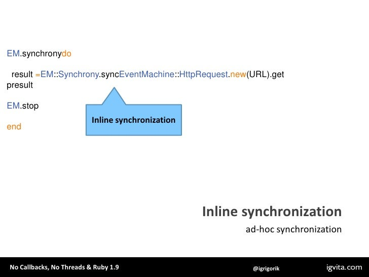 em-mysqlplus: .query is synchronous, while .aquery is async