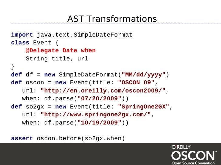 AST Transformations import java text SimpleDateFormat class