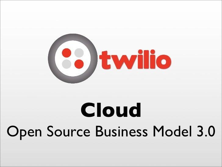 Cloud Open Source Business Model 3.0