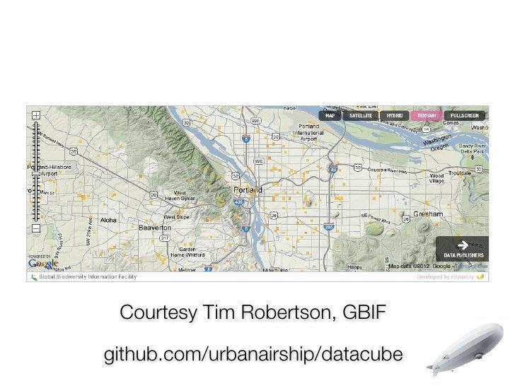 Courtesy Tim Robertson, GBIFgithub.com/urbanairship/datacube