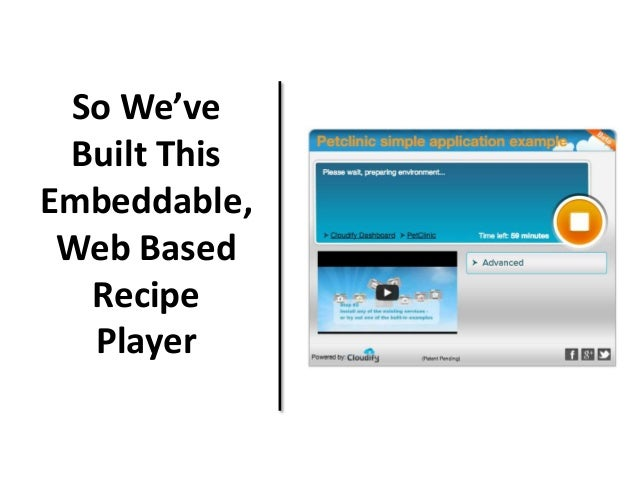 So We've Built This Embeddable, Web Based Recipe Player