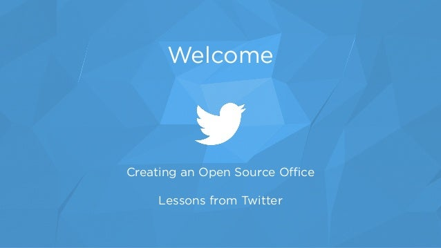 Creating an Open Source Office
