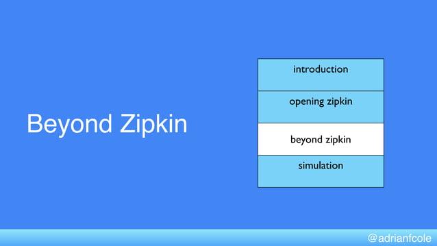 Beyond Zipkin introduction opening zipkin beyond zipkin simulation @adrianfcole