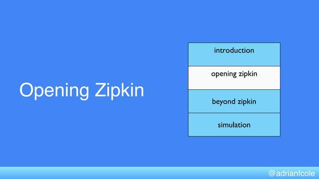 Opening Zipkin introduction opening zipkin beyond zipkin simulation @adrianfcole