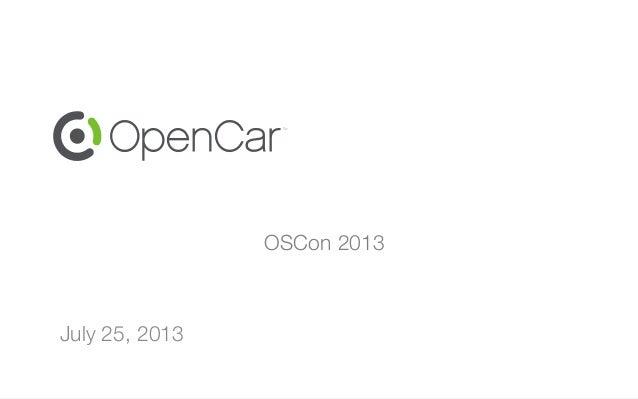 OSCon 2013 July 25, 2013