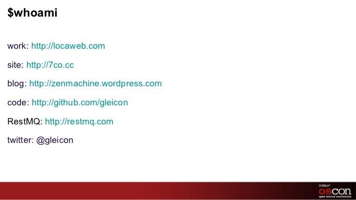OSCon - Performance vs Scalability Slide 2