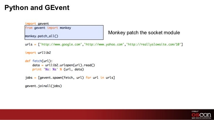 Python and GEvent Monkey patch