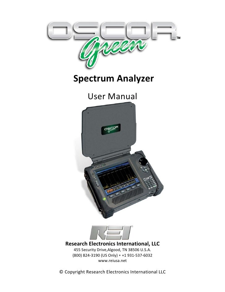 SpectrumAnalyzer                     UserManual                                                                   ...