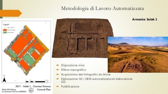 Metodologia di Lavoro Automatizzata  Disposizione mire  Rilievo topografico  Acquisizione dati fotografici da Drone  E...