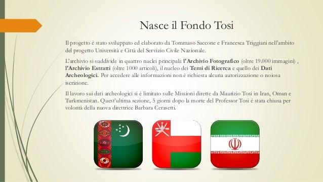 Nasce il Fondo Tosi Il progetto è stato sviluppato ed elaborato da Tommaso Saccone e Francesca Triggiani nell'ambito del p...