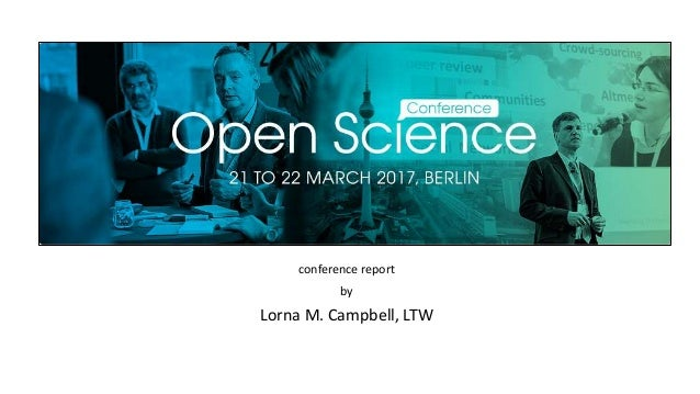 conference report by Lorna M. Campbell, LTW