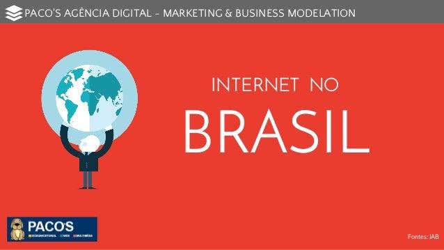 PACO'S AGÊNCIA DIGITAL - MARKETING & BUSINESS MODELATION  INTERNET NO  BRASIL  Fontes: IAB