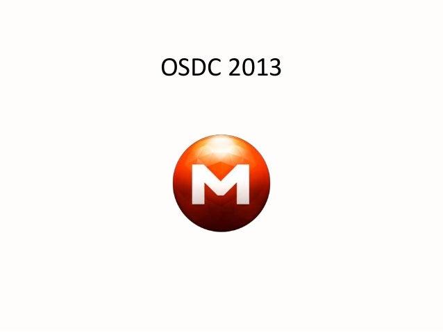 OSDC 2013