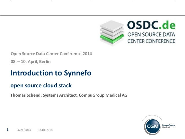 Introduction to Synnefo open source cloud stack Thomas Schend, Systems Architect, CompuGroup Medical AG Open Source Data C...