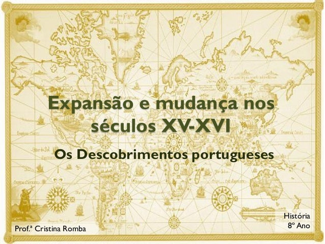 Expansão e mudança nos séculos XV-XVI Os Descobrimentos portugueses  Prof.ª Cristina Romba  História 8º Ano