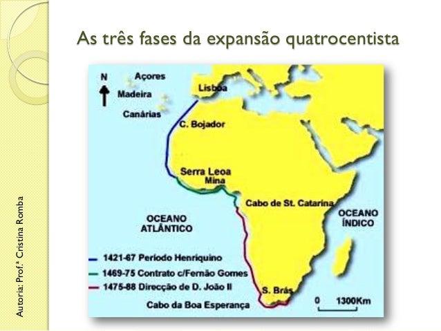 Autoria: Prof.ª Cristina Romba  As três fases da expansão quatrocentista