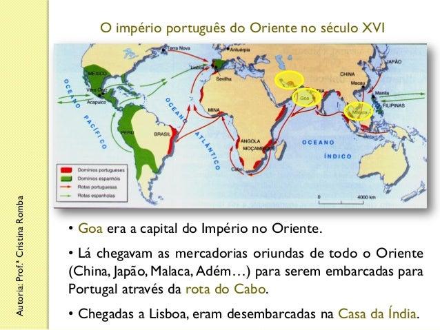 Autoria: Prof.ª Cristina Romba  O império português do Oriente no século XVI  • Goa era a capital do Império no Oriente. •...