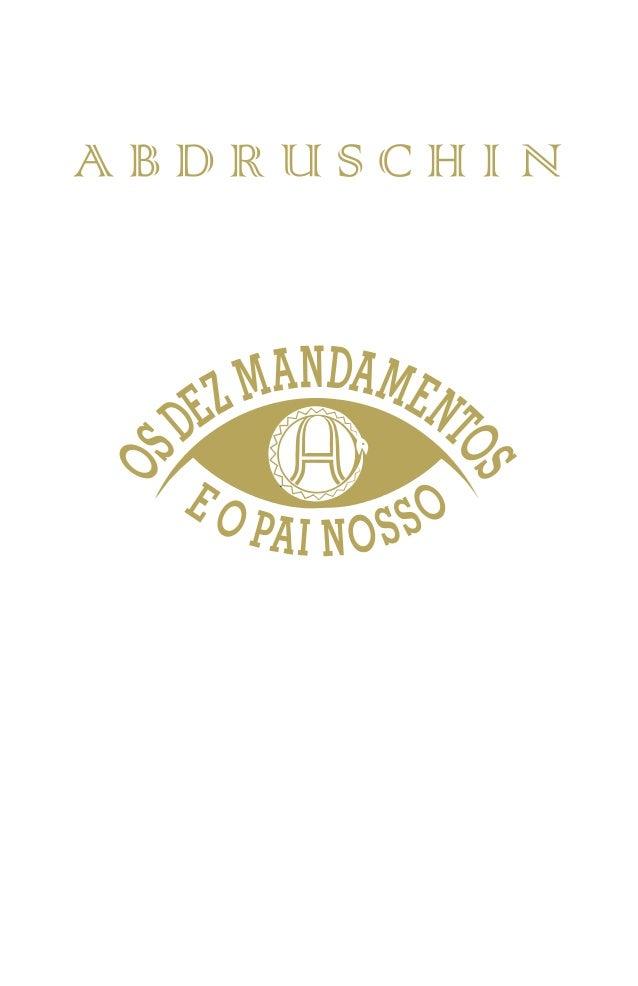 OS DEZ MANDAMENTOS DE DEUS E O PAI NOSSO
