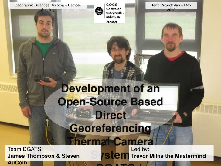 Geographic Sciences Diploma – Remote    Term Project: Jan – May                 Sensing                           2012    ...