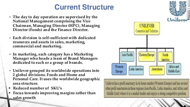 why did unilever s decentralization Competitive strategy and competitive advantages of small and midsized  today's organizations have to deal.