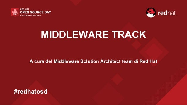 MIDDLEWARE TRACK A cura del Middleware Solution Architect team di Red Hat #redhatosd