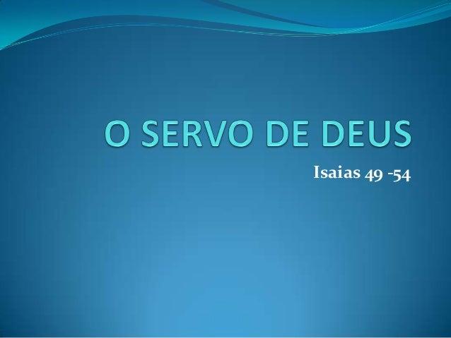 Isaias 49 -54
