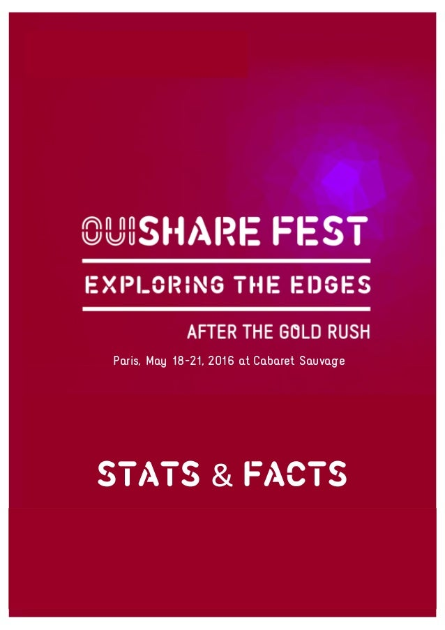 STATS & FACTS Paris, May 18-21, 2016 at Cabaret Sauvage