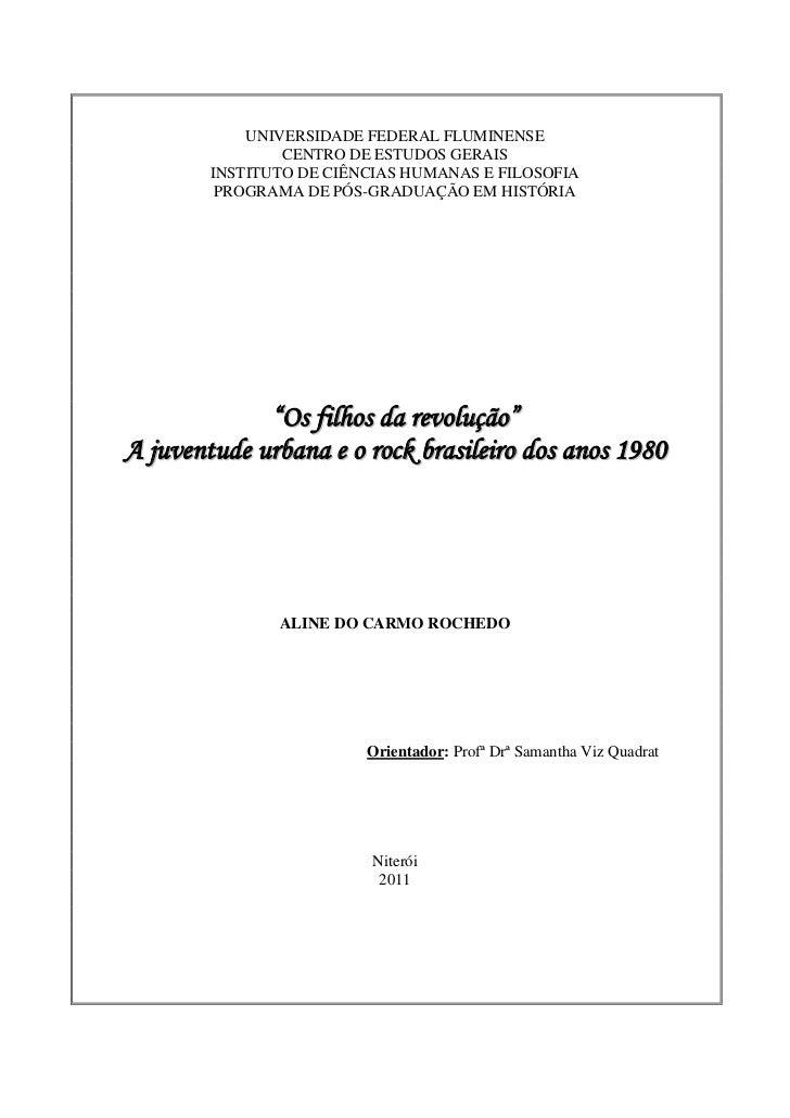 UNIVERSIDADE FEDERAL FLUMINENSE                CENTRO DE ESTUDOS GERAIS        INSTITUTO DE CIÊNCIAS HUMANAS E FILOSOFIA  ...