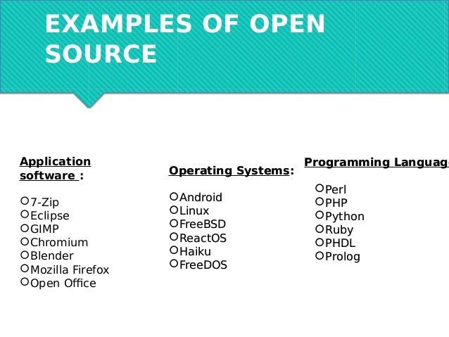 A kick-start into Open Source