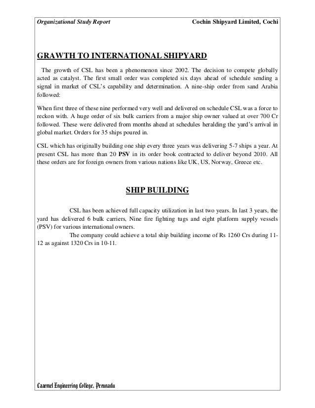 Ship repair market study report