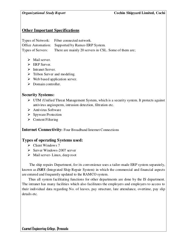 Case study report a problems analysis