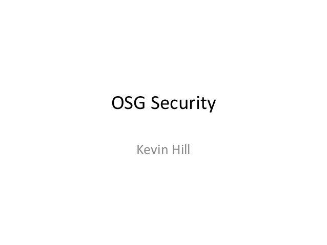 OSG Security Kevin Hill