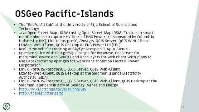 """OSGeo Pacific-Islands • The """"GeoForAll Lab"""" at the University of Fiji, School of Science and Technology • Java Open Street..."""