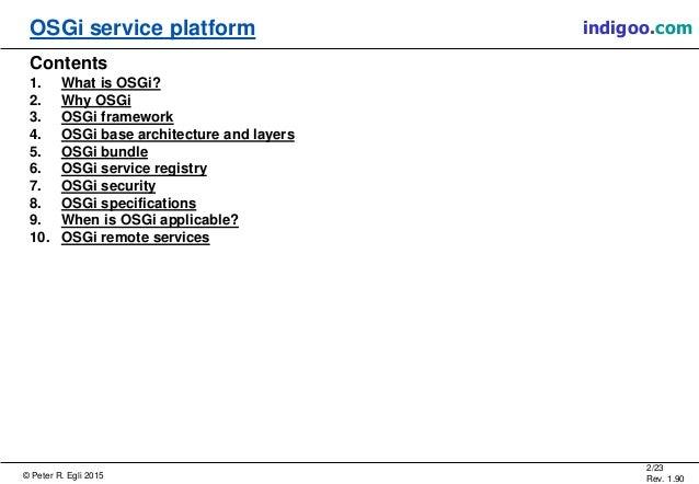 Open Services Gateway Initiative (OSGI) Slide 2