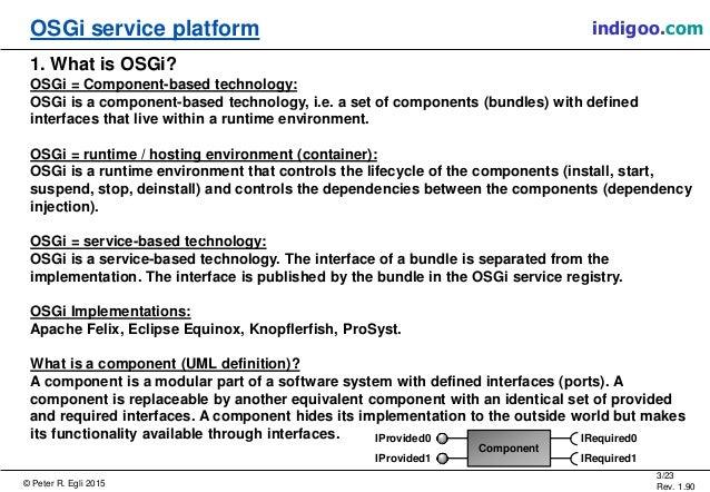Open Services Gateway Initiative (OSGI) Slide 3