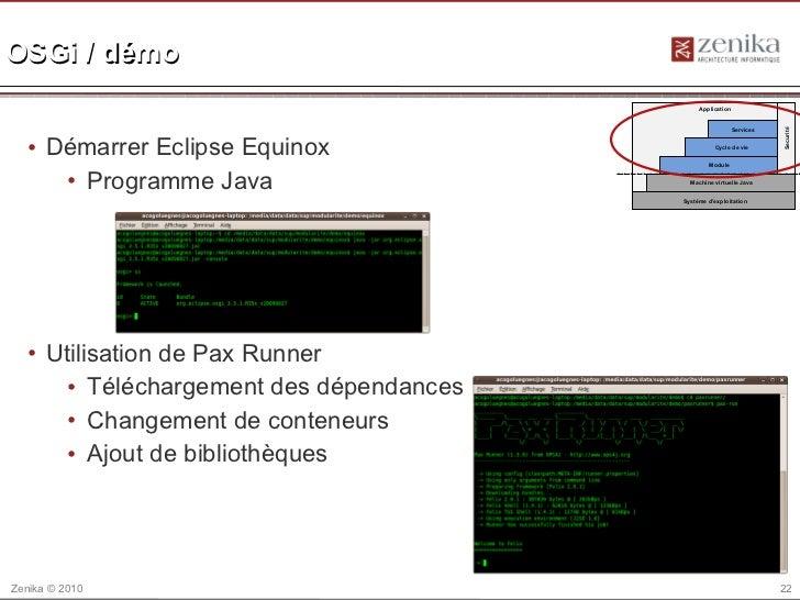 OSGi / démo                                              Application                                                      ...