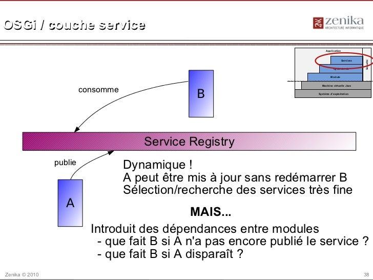 OSGi / couche service                                                                            Application              ...