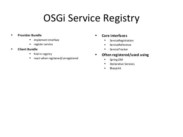 Osgi blueprint bundle states 15 osgi service registry malvernweather Gallery
