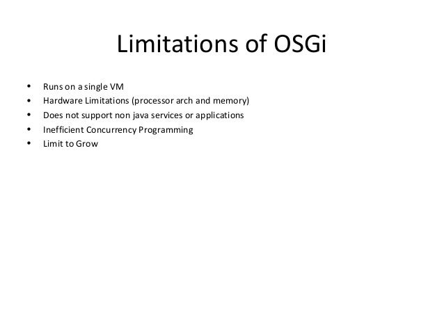 Osgi blueprint blueprint 16 limitations of osgi malvernweather Images