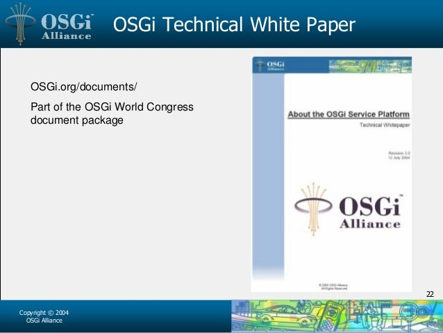 OSGi Alliance – Status Address