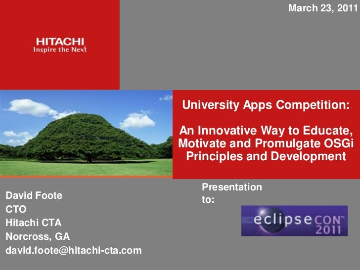 March 23, 2011                              University Apps Competition:                              An Innovative Way to...
