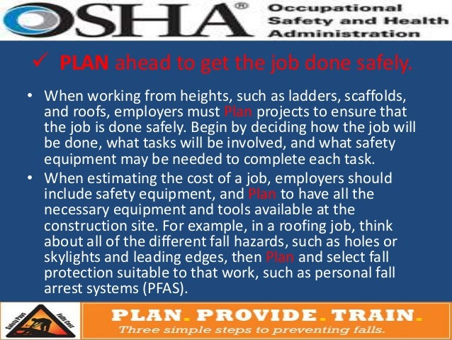 Osha 3 Step Fall Protection