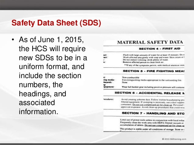 Osha and ghs hazcom training webinar with marie athey for Osha sds template