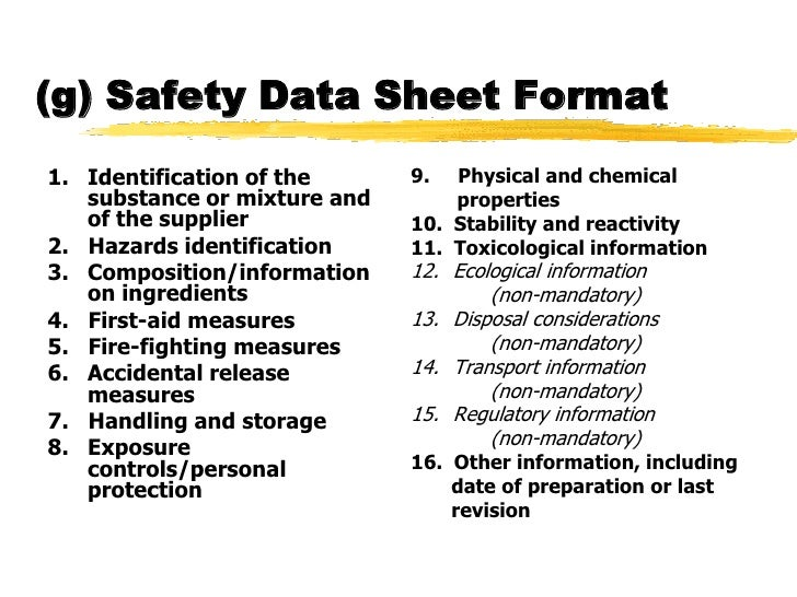 Osha requirement for updating msds