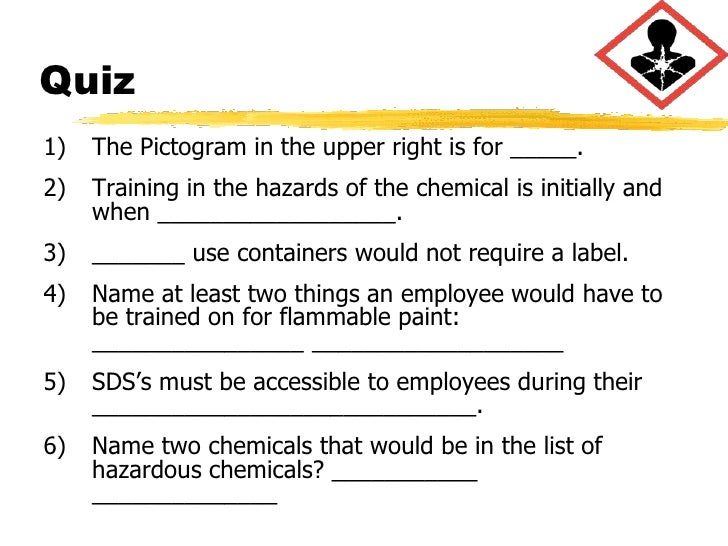 Osha On Hazcom And Ghs