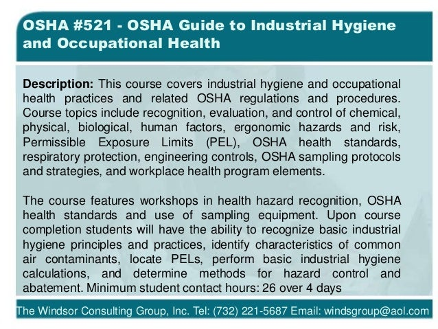 terms related to industrial hygiene • raise awareness about occupational hygiene stressors and disease  work-related stress can be an occupational health issue for the construction sector.