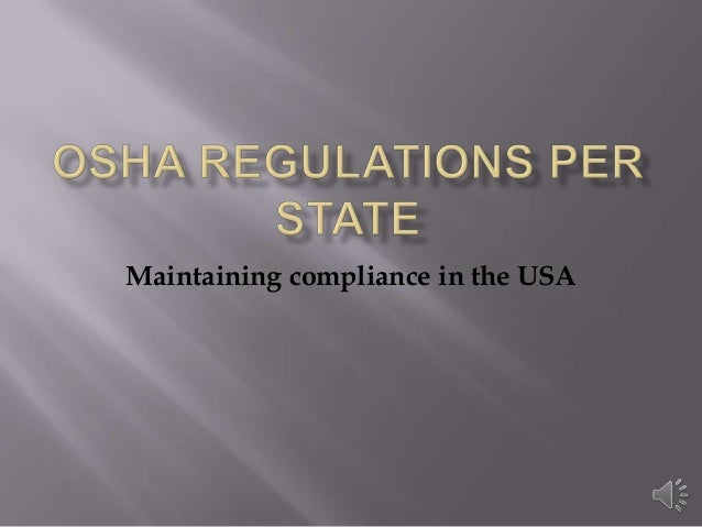 Maintaining compliance in the USA