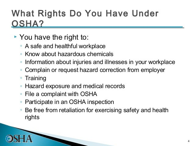 you have the right to participate in an osha