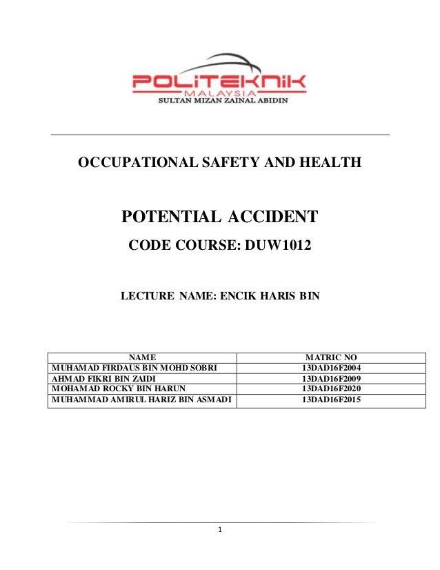 case study 1 osha politeknik