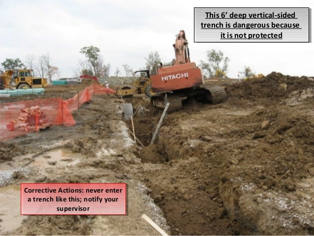 osha trenching requirements Osha trenching & excavating it is important that all employers understand and follow the osha regulations regarding excavating, trenching and shoring employers should ensure that a competent person is properly trained and is supervising all such jobsites.